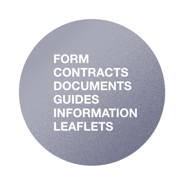 Form, Contracts, Guides, Information leaflets